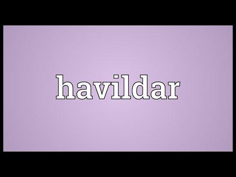 Header of havildar