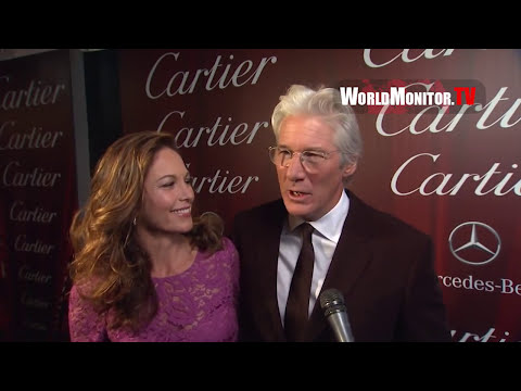 Richard Gere and Diane Lane arrive at 2013 Palm Springs International Film Festival