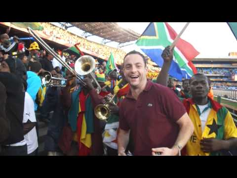 Dancing with Ghana Fans at South Africa World Cup 2010