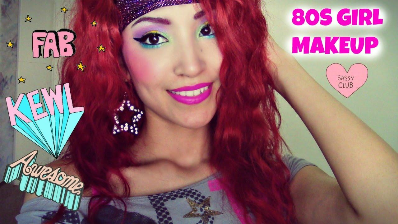 80 S Girl Halloween Makeup Tutorial Youtube