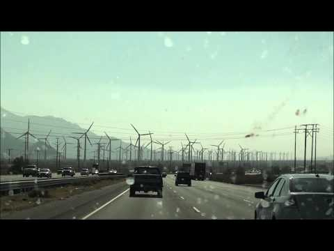 What planet am I on? Driving through Palm Springs / Desert Hot Springs, California - Wind turbines