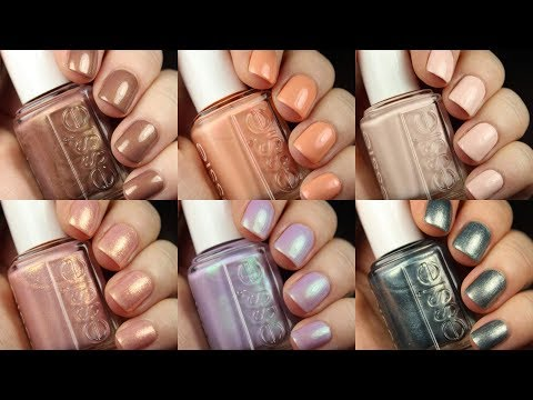 Essie Spring 2019   Live Swatch and Comparisons