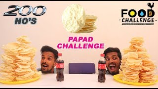 200 NO'S Papad Eating Competition   Appalam   Food Challenge Tamil