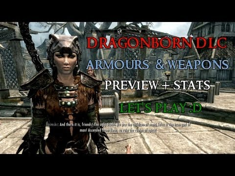 Skyrim Dragonborn DLC Armour and Weapons preview
