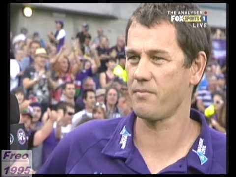 The last few mins - Fremantle v Geelong Round 3 2010.