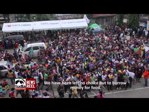 12,000 typhoon Yolanda victims from EVis marched to protest Aquino gov't neglect (English Subs)
