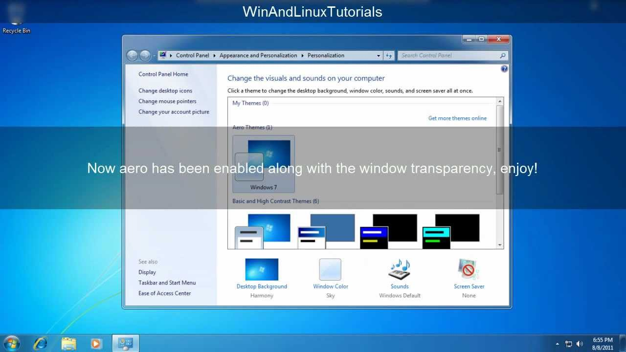 Aero Transparency For Windows  Home Basic
