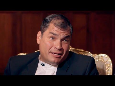 """Rafael Correa: """"Si eligiera un político para mi Gobierno sería Pablo Iglesias"""" - Salvados"""