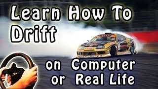How To Drift a Car - step by step Tutorial Slow Motion walkthrough PC Simulator. 2014