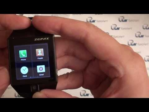 uPlay Android 4 smart watch Z3 unbox video - World phone. Apple MINI display. Android 4.0