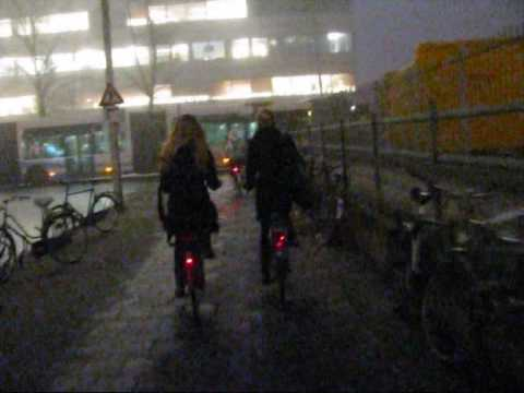 Big Commute in Winter; bicycle & train combination in the Netherlands