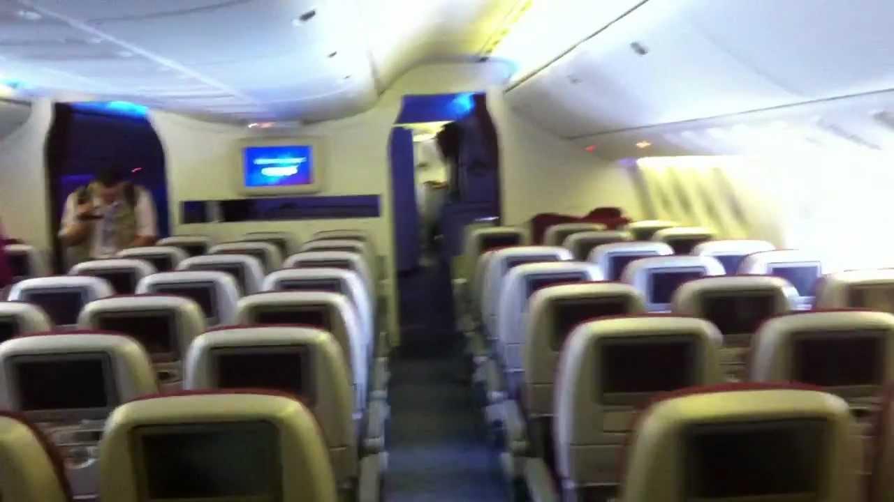 On Board Qatar Airways Boeing 777 200 Lr Youtube