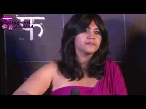 Hot Ekta Kapoor Tight Plunging Gown