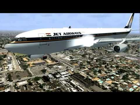 Jet airways a340-300 landing in Melbourne HD