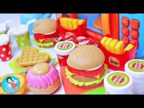 รีวิวของเล่นทำอาหาร ปั้นแป้งโดว์ Play Doh เรียนรู้ชื่ออาหาร วีดีโอสำหรับเด็ก