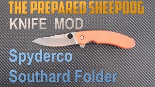 Spyderco Southard Flipper - Carbon Fiber Scale Modification