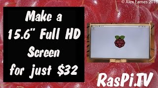 """Make Your Own 15.6"""" Full HD Screen for 32 bucks for use with Raspberry Pi, DSLR, Video camera"""