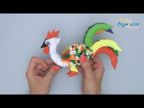 Петух модульное оригами мастер класс