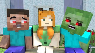 The minecraft life of Alex and Steve : Love story - Minecraft animations cartoon