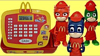 PJ MASKS Mcdonald's Drive Thru Happy Meal with Catboy, Owlette & Gekko