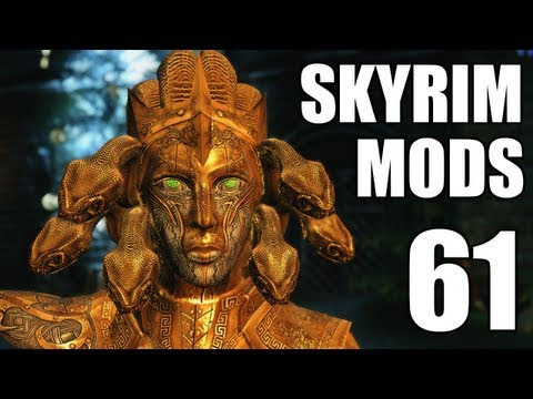 Skyrim Mods 61: Medusa Drakul Armors. Flyable Dragons. Goosy Goosa!