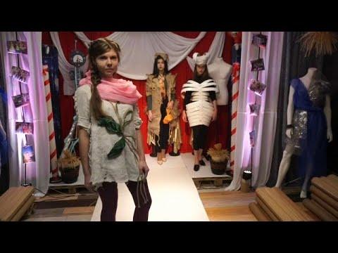 Russian fashion designer creates costumes from rubbish