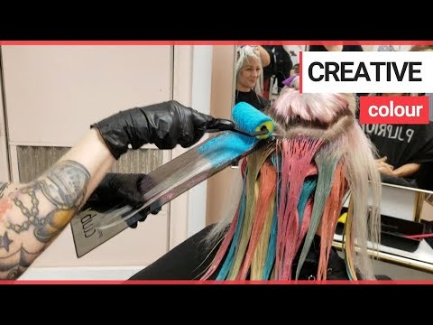 Hairdresser uses paint rollers to colour clients' hair | SWNS TV