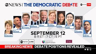 ABC News announces podium placement for presidential debate in Houston