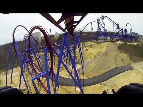 Banshee Roller Coaster REAL POV Kings Island Ohio 2014 AWESOME!