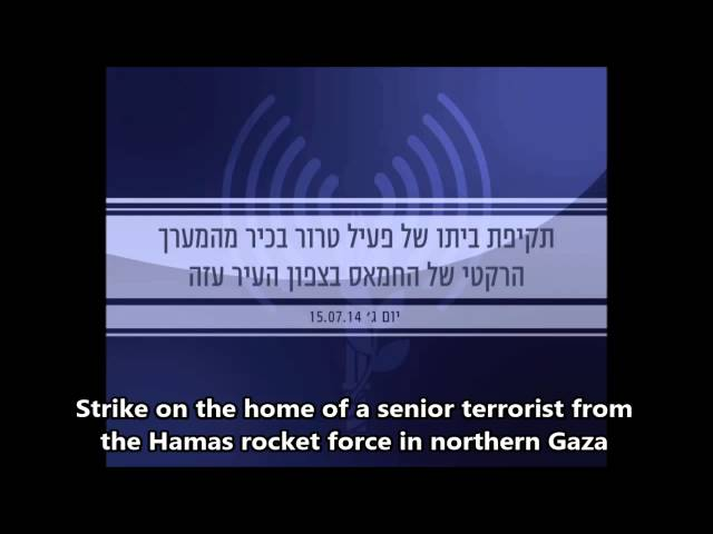 Attack on the home of a senior member of Hamas's rocket force