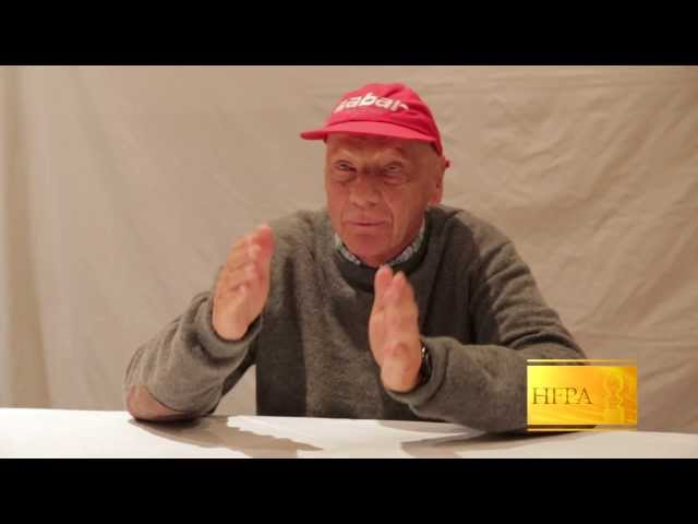 The real Niki Lauda sits down with the HFPA at the Toronto Film Festival