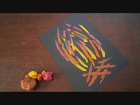 ציור עם פלסטלינה - מדורה