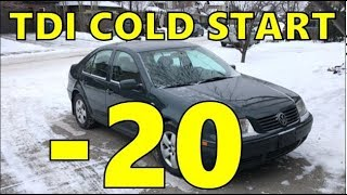 Cold Start - 2003 VW Jetta TDI ALH diesel at -20C / -5F