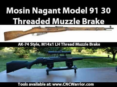 Mosin Nagant 91 30 Threaded Muzzle Brake