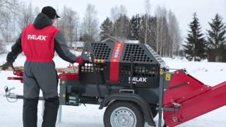 Palax Active FirewoodProcessor on Wheels from Hakmet
