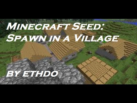 Minecraft 1.6.2 Seed: SPAWN IN A VILLAGE!