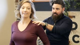 First Time *EXTREME CRACKING* Chiropractic Adjustment by Dr Joseph Cipriano