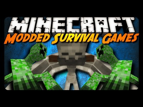 Minecraft: MODDED SURVIVAL GAMES 1 AntVenom POV Mutant Creatures
