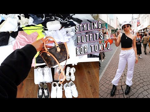 packing outfits for tokyo japan + styling tips! - YouTube