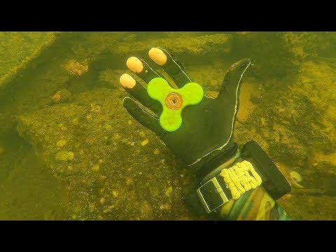 I Found a Fidget Spinner, 5 Phones and a Bike Underwater in the River! (Scuba Diving) thumbnail