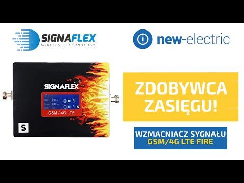 Zdobywca zasięgu - Wzmacniacz sygnału GSM/4G LTE FIRE Signaflex