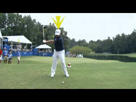 In the third round of the 2012 Wyndham Championship, we take a closer look at Webb Simpson&#039;s swing off the tee on the 484 yard, par-4 11th hole.