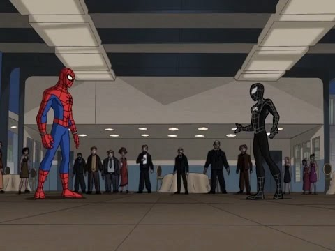 Spectacular Spider-Man (2008) Black Suit Spider-Man vs Chameleon part 1 thumbnail