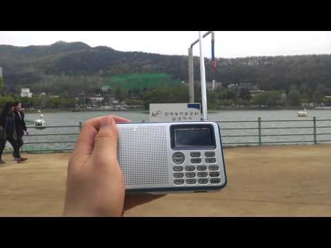 Shortwave radio reception at Suseong lake, Daegu, Korea - CNR 1, 13790khz (23rd April 2015)