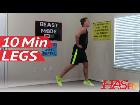 12 Min Devastation Leg Workout - HASfit Leg Exercises - Leg Exercise - Best Legs Workouts