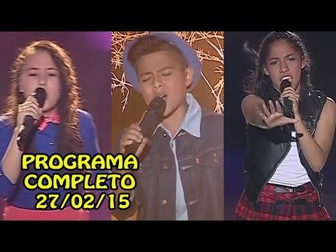 LA VOZ KIDS PERÚ 27-02-15 PROGRAMA COMPLETO [PRIMERA GRAN FINAL 27/02/2015]