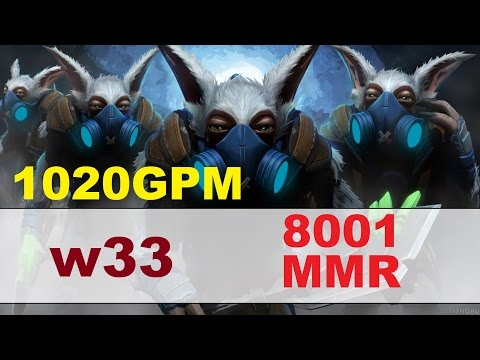 w33 8001MMR plays Meepo | Dota 2 Gameplay