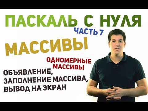 Pascal Массивы