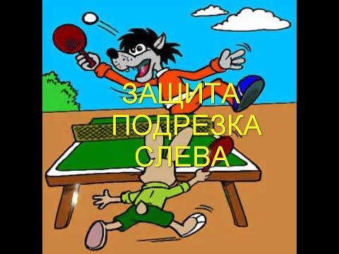 Защита. Подрезка слева.Настольный теннис