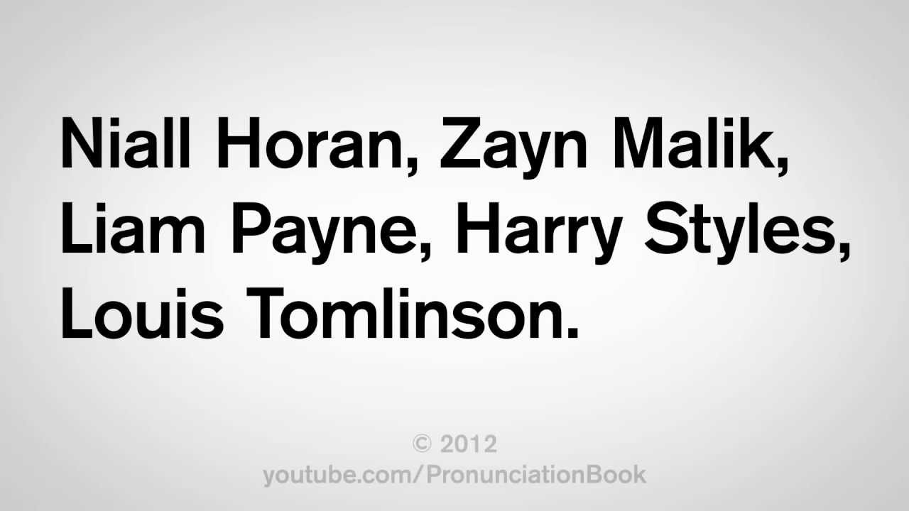 How to Say One Direction Names - YouTube One Direction Names In Words